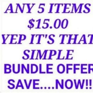 Bundle any 5pc now